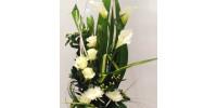 Bouquet allongé blanc