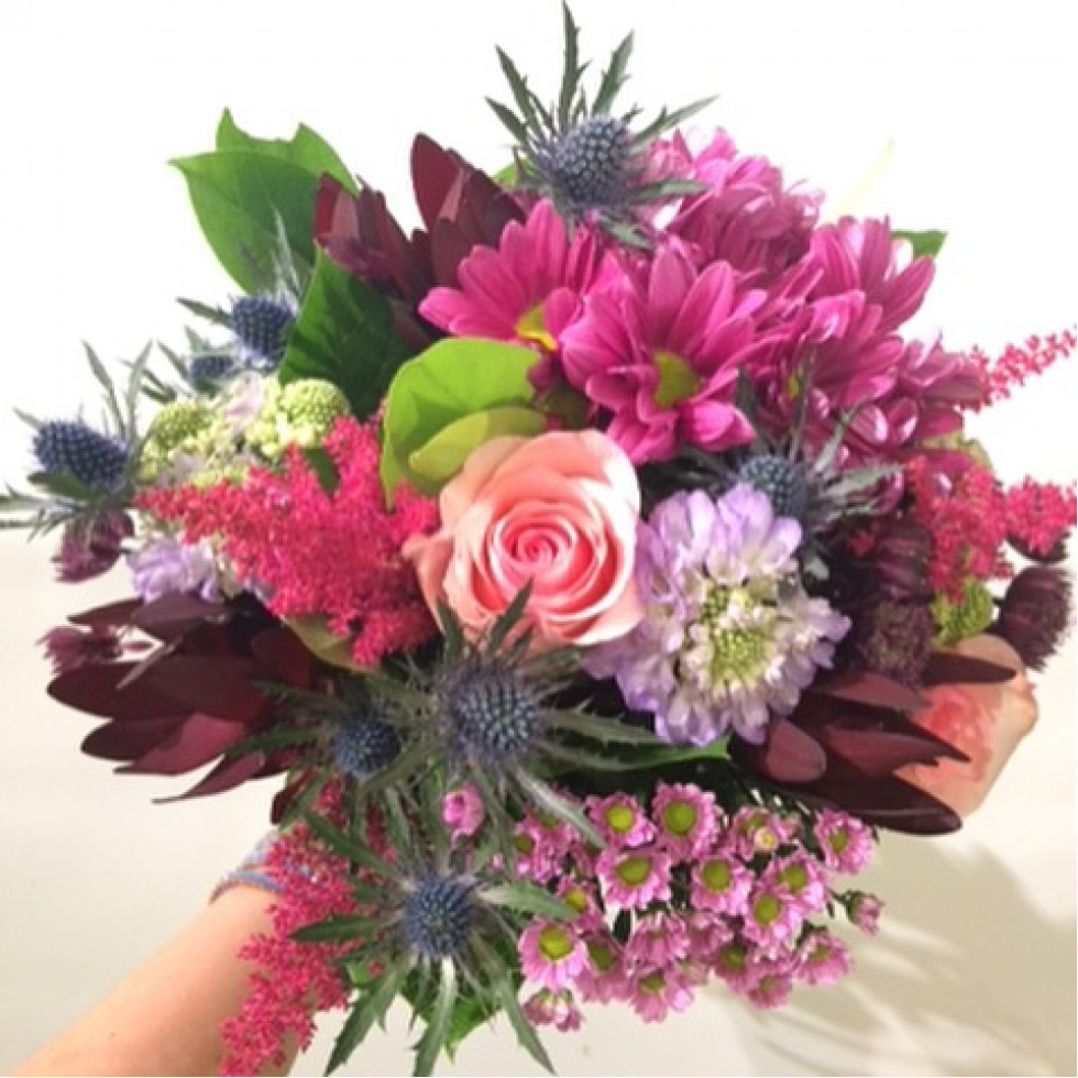 Colorfull round bouquet izmirmasajfo